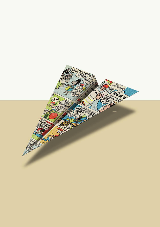 4147552ef182 Advertising Digital Art - Terrific Ten II Comic Book Ad Paper Airplane by  YoPedro