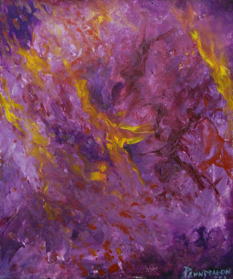 Abstract Painting - Terror by Amy Stewart Hale