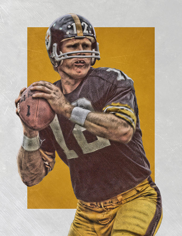 best cheap 364c4 4314b Terry Bradshaw Pittsburgh Steelers Art