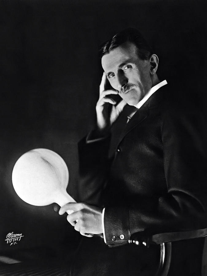 TESLA and WIRELESS LIGHT BULB Photograph by Daniel Hagerman