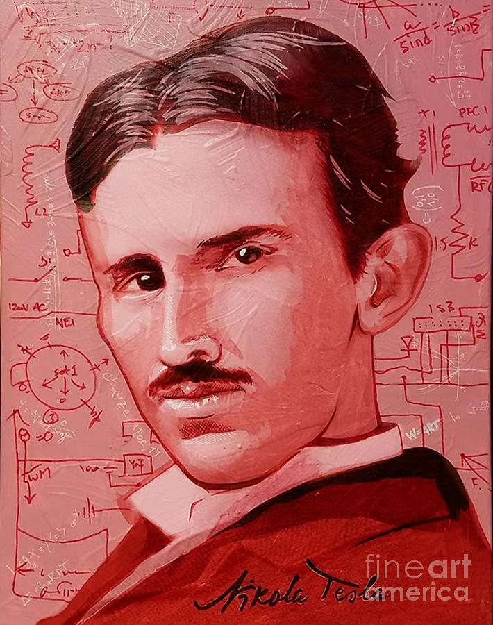 Nikola Painting - Tesla by Kyle Willis