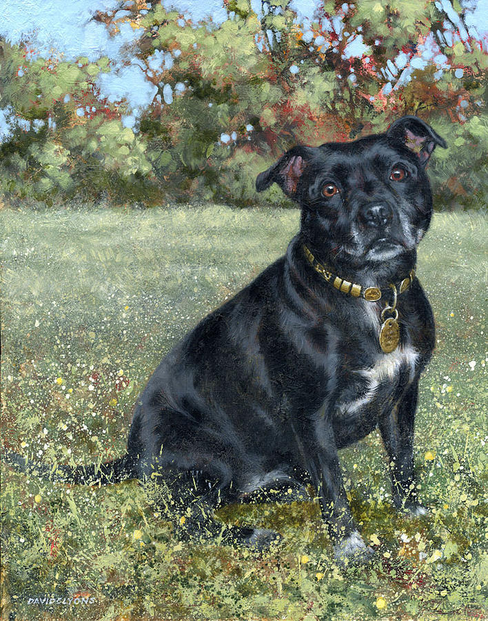Commissions Painting - Tess by David Lyons