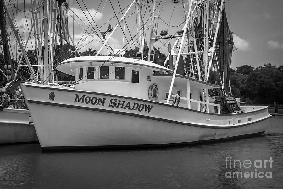 Moon Shadow Photograph - Moon Shadow Working Boat by Dale Powell