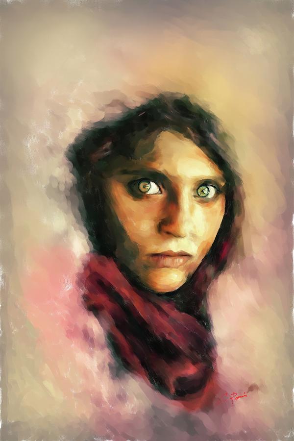 Afghan Girl by Charlie Roman