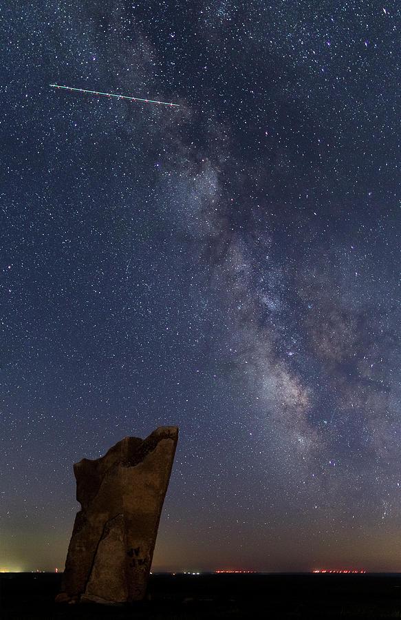Milky Photograph - Teter Rocks Milky Way by Jon Friesen