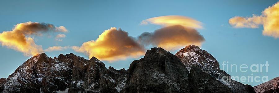 Teton Dusk Panorama Photograph
