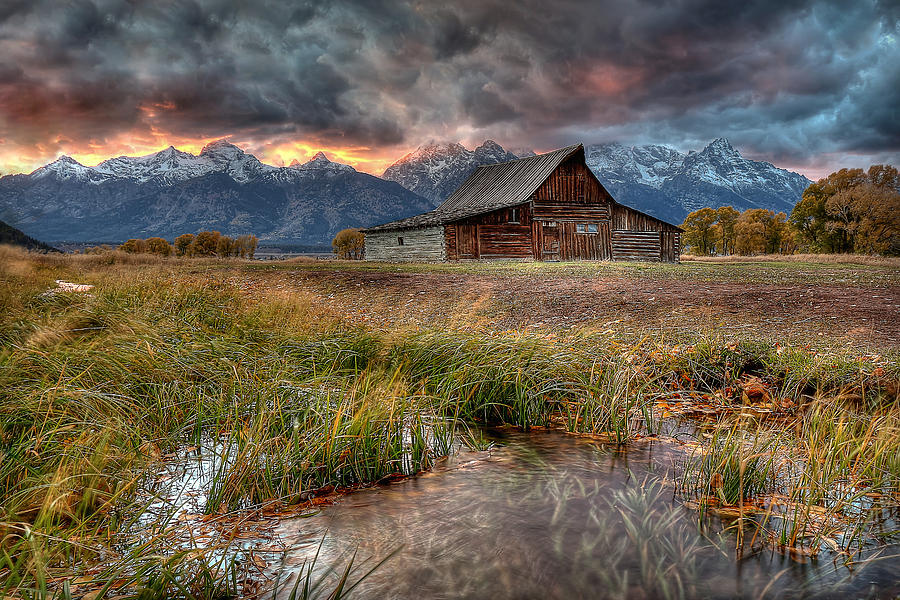 Teton Nightfire at the TA Moulton Barn by Ryan Smith