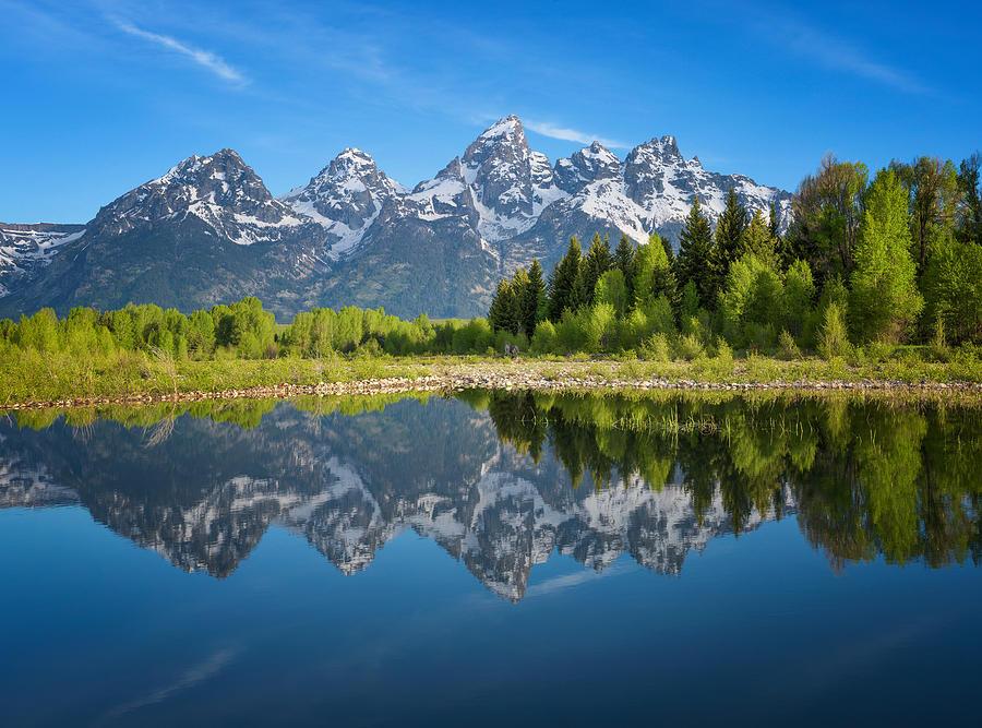 Grand Teton National Park Photograph - Teton Reflection by Darren  White