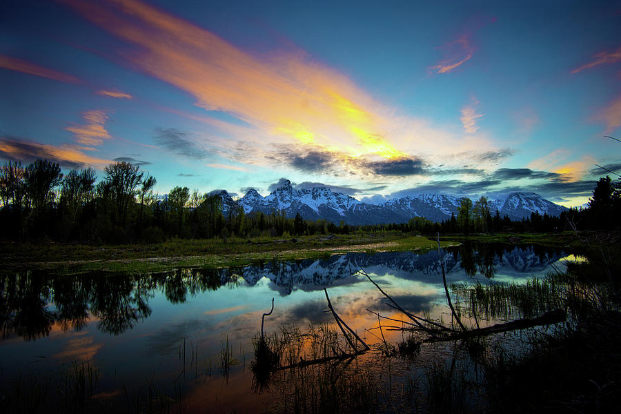 Teton Sunset Photograph by Norman Hall