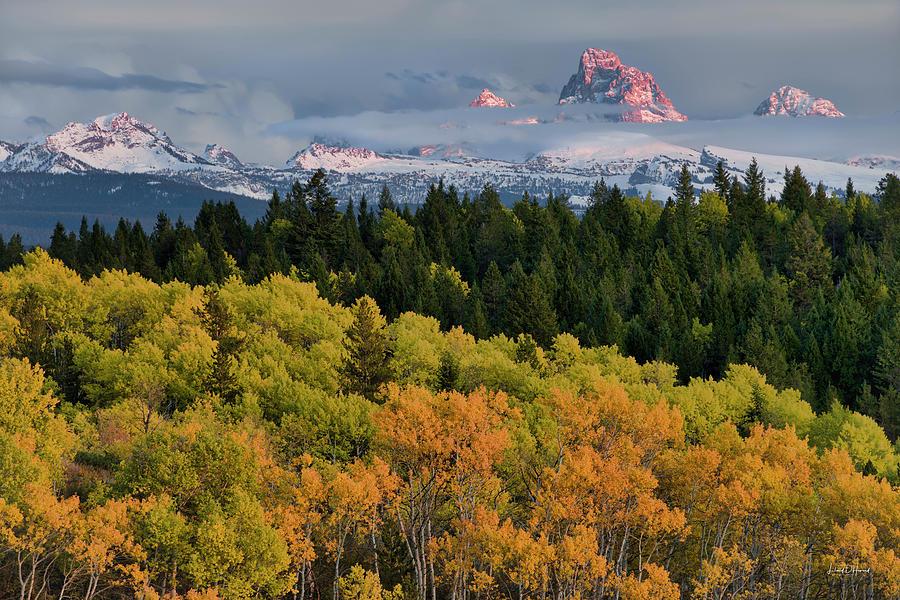 Altitude Photograph - Tetons From Idaho by Leland D Howard