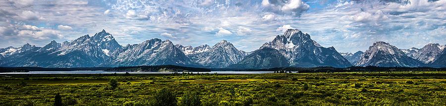 Tetons - Panorama Photograph by Shane Bechler