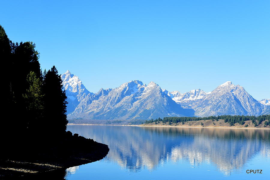 Grand Tetons National Park Photograph - Tetons Reflection by Carrie Putz