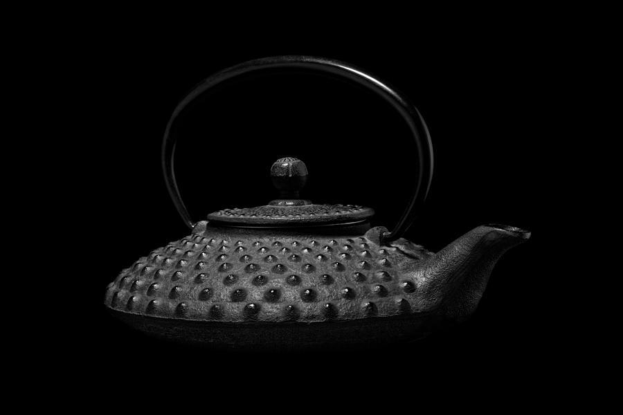Black Photograph - Tetsubin Teapot by Tom Mc Nemar