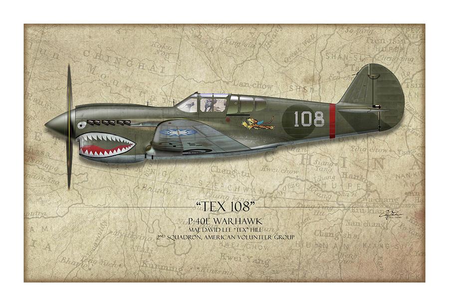Tex Hill 108 P-40E Warhawk - Map Background by Craig Tinder