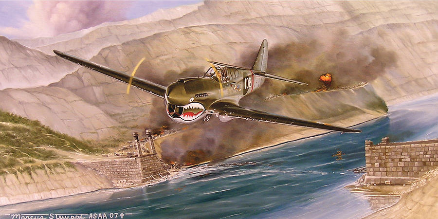 Painting Painting - Tex Hill Over The Salween Gorge by Marc Stewart