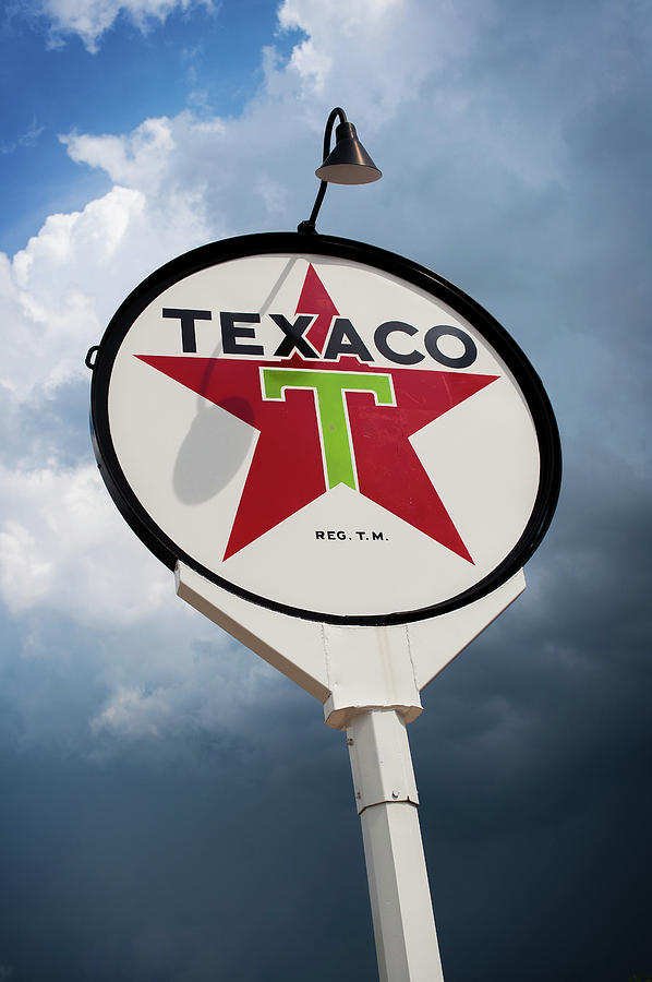 Gas Station Photograph - Texaco Star by Bud Simpson