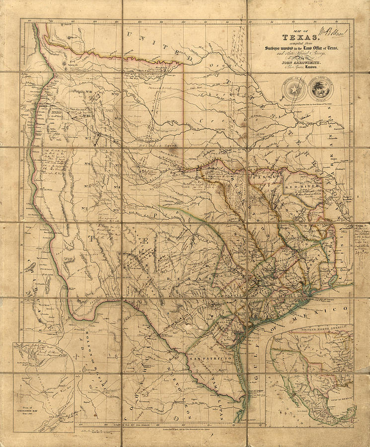 Texas 1841 by John Arrowsmith by Texas Map Store