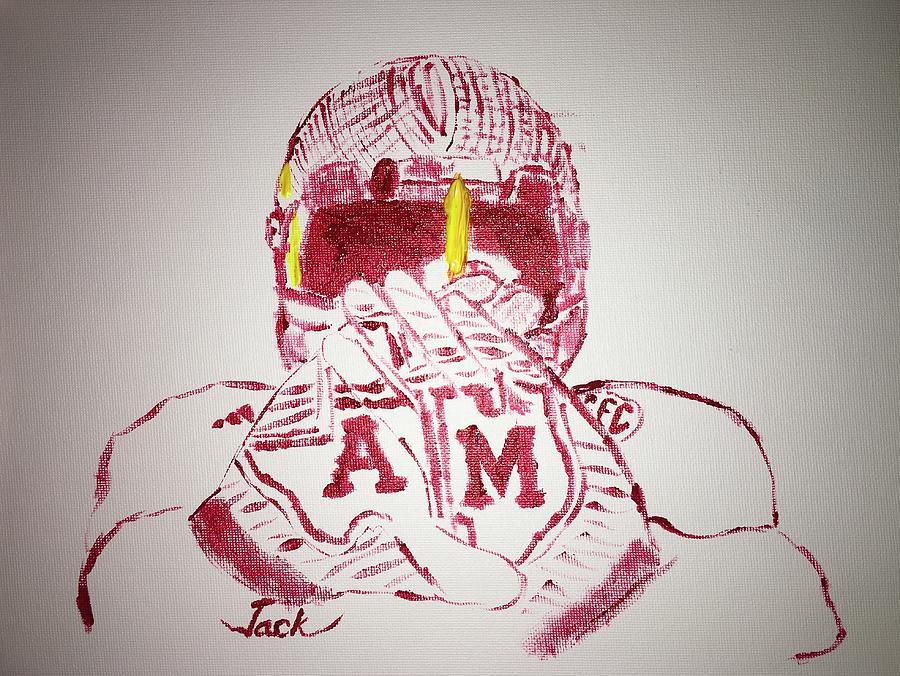 Texas Am Uniforms Painting By Jack Bunds