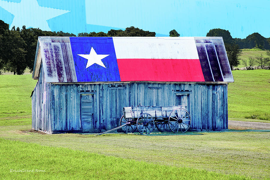 Texas Photograph - Texas Barn Stpnvle by Erich Grant