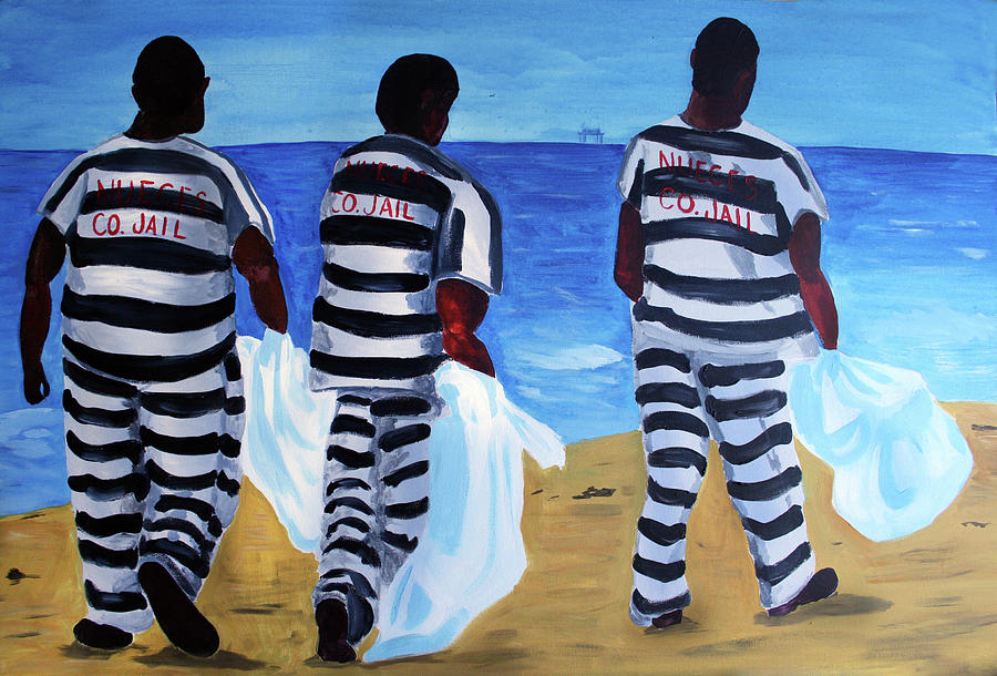 Politics Painting - Texas Beach Scene by Deborah Lee