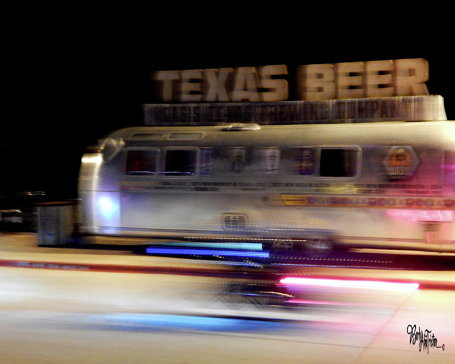 Creative Energy Photograph - Texas Beer Fast Motorcycle #5594 by Barbara Tristan