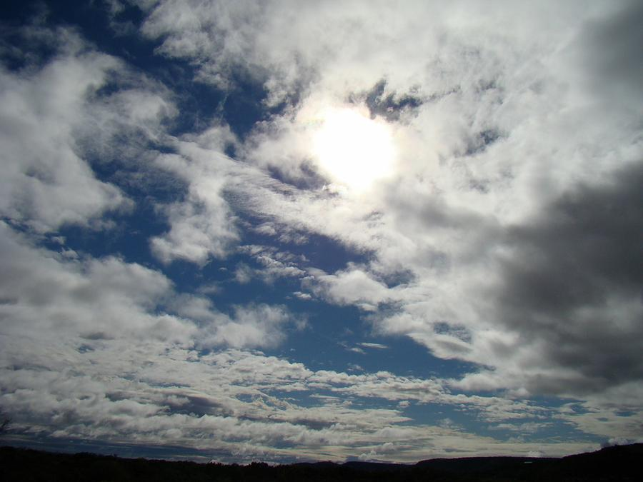 Sky Photograph - Texas Blue Sky Two by Ana Villaronga