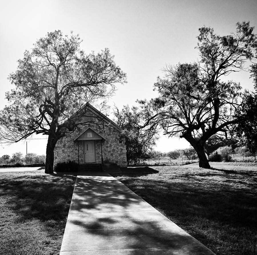 Black Photograph - Texas Country Church by Ranchers Eye Photography