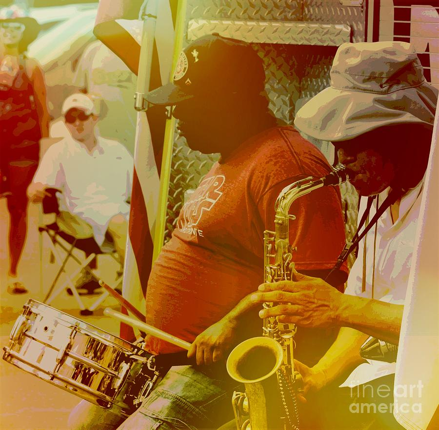 Saxophone Photograph - Texas Duet by Beth Wiseman