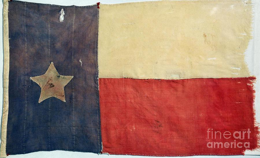 1842 Photograph - Texas Flag, 1842 by Granger