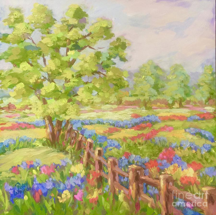 Bluebonnets Painting - Texas Hill Country by Patsy Walton