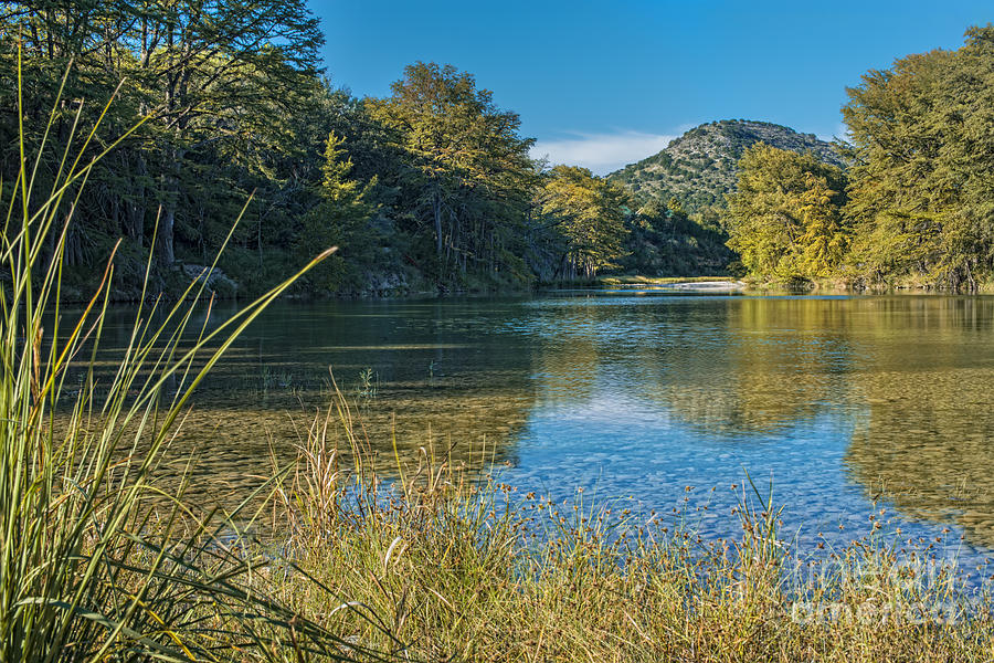 Texas Hill Country Photograph - Texas Hill Country - The Frio River by Andre Babiak