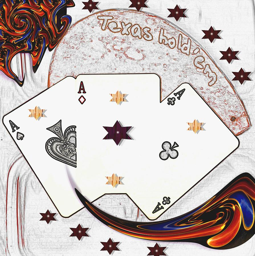Texas Holdem Poker Mixed Media - Texas Hold Em Poker by Pepita Selles