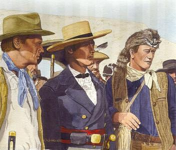 Jim Bowie Painting - Texas Holy Trinity by Gerard Johnson II