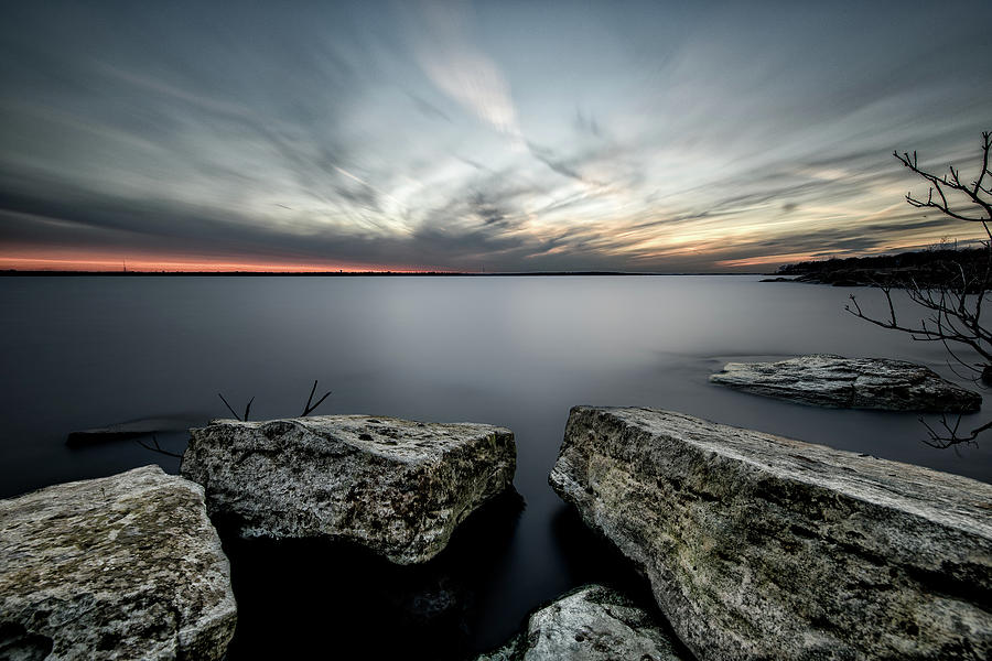 Landscape Photograph - Texas Iceburgs @ Sunset by Cathy Neth