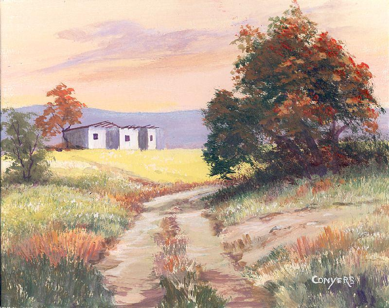 Texas Painting - Texas Landscape by Peggy Conyers