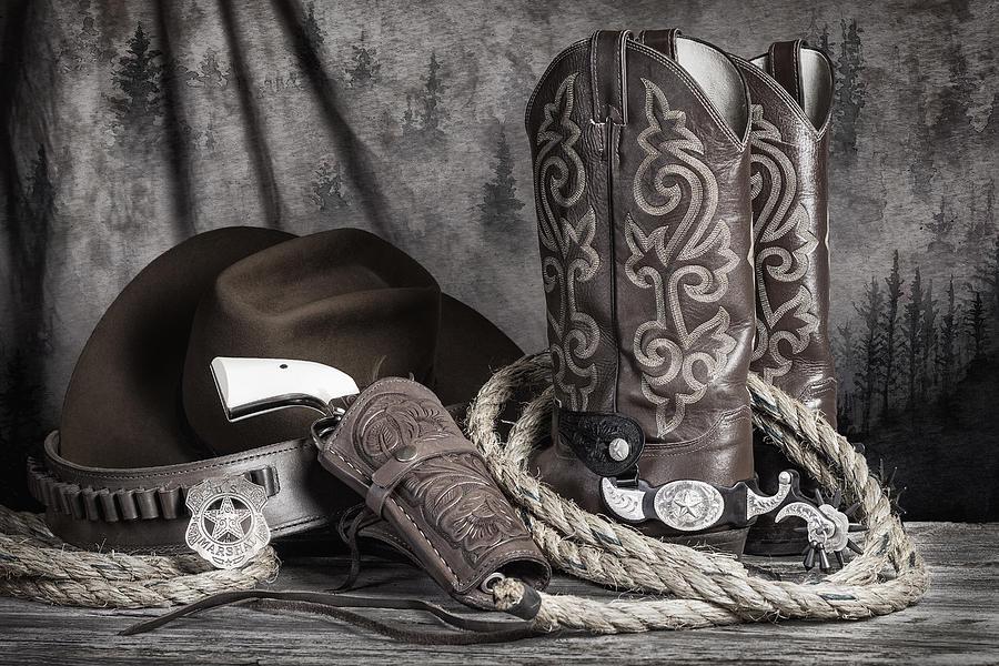 Colt Photograph - Texas Lawman by Tom Mc Nemar