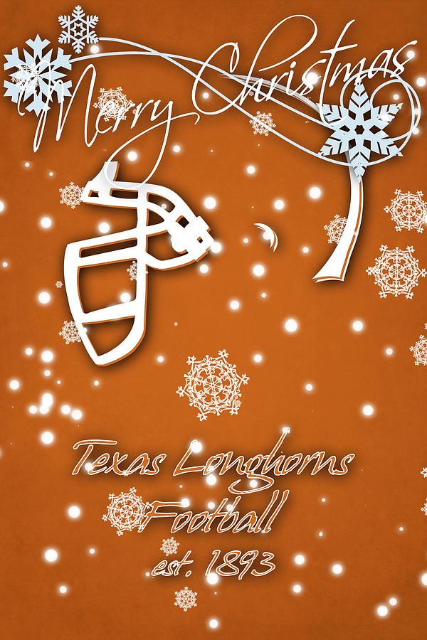 texas longhorns photograph texas longhorns christmas card by joe hamilton