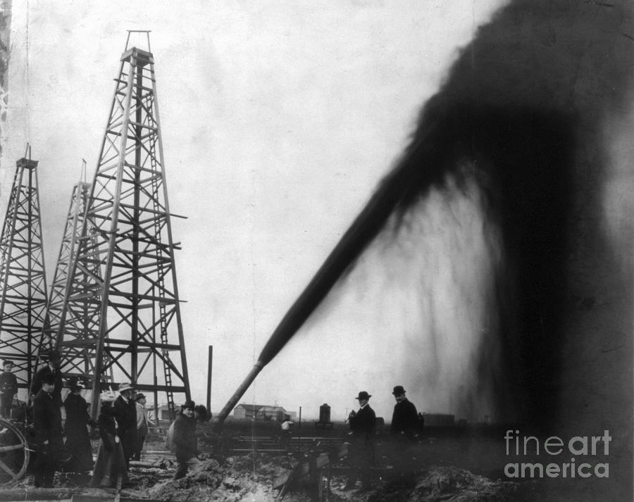 1901 Photograph - Texas: Oil Derrick, C1901 by Granger