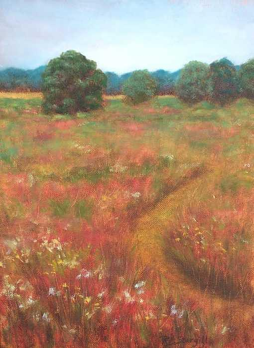 Red Painting - Texas Prairie Along The Bayou by Ruth Ann Sturgill