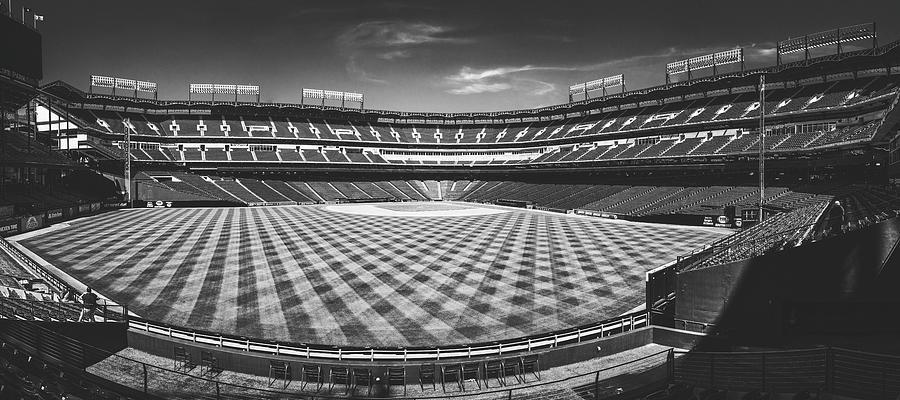 Texas Rangers Ballpark Waiting For Action Bw Matte Photograph