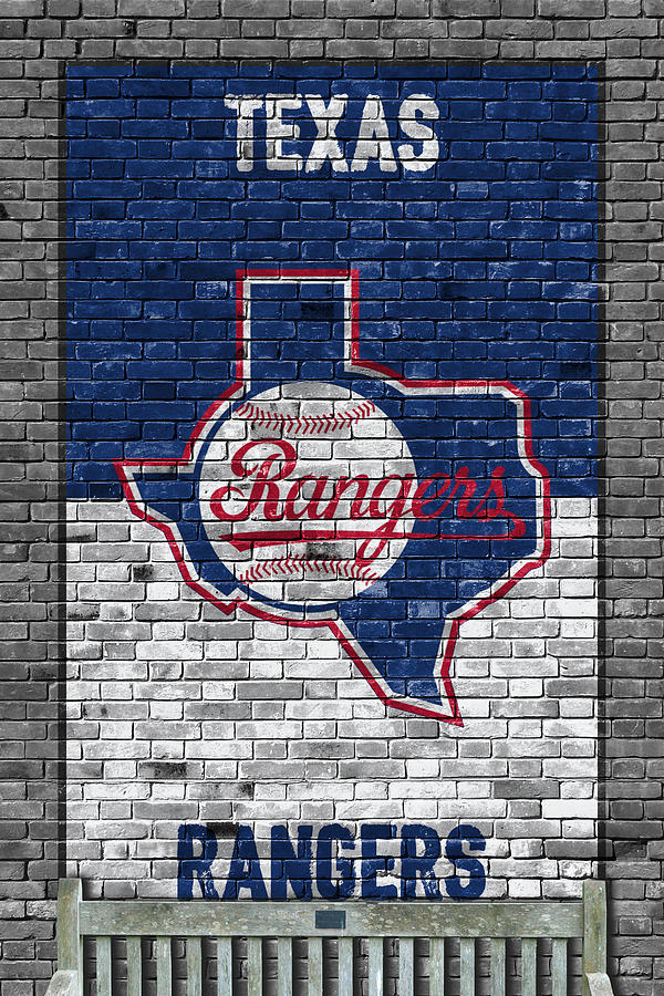 Rangers Painting - Texas Rangers Brick Wall by Joe Hamilton