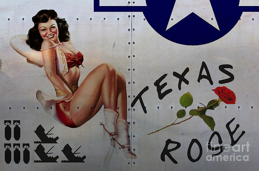 Noseart Painting - Texas Rose Noseart by Cinema Photography