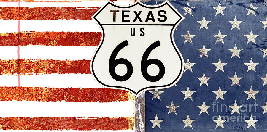 Texas Route 66 Painting