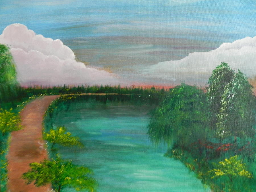 Landscape Painting - Texas Summer by Patti Spires Hamilton