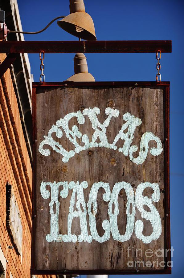Breakfast Photograph - Texas Tacos by Charles Dobbs