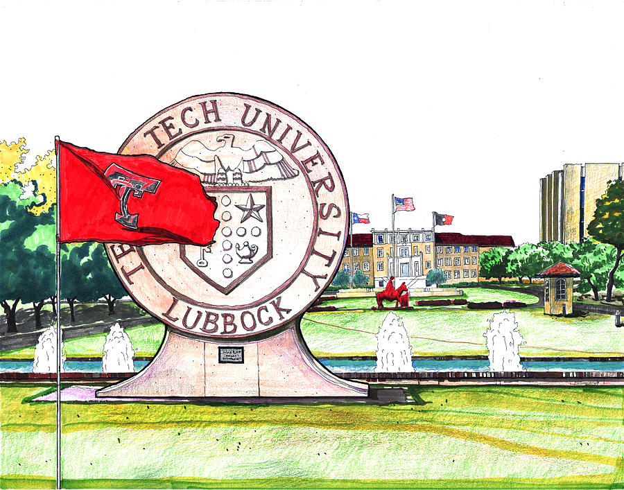 Texas Tech University Seal Statue by Yang Luo-Branch
