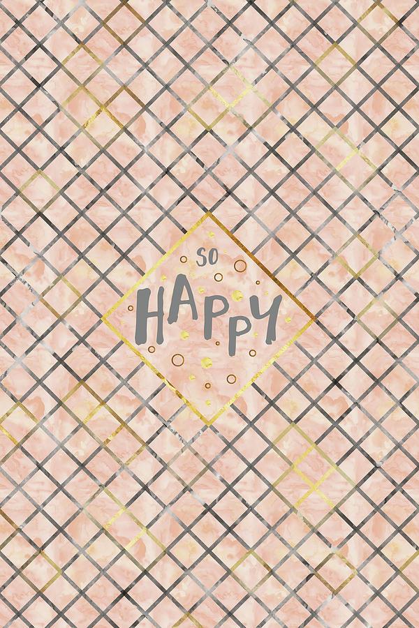 Psychology Digital Art - Text Art So Happy - Orange by Melanie Viola