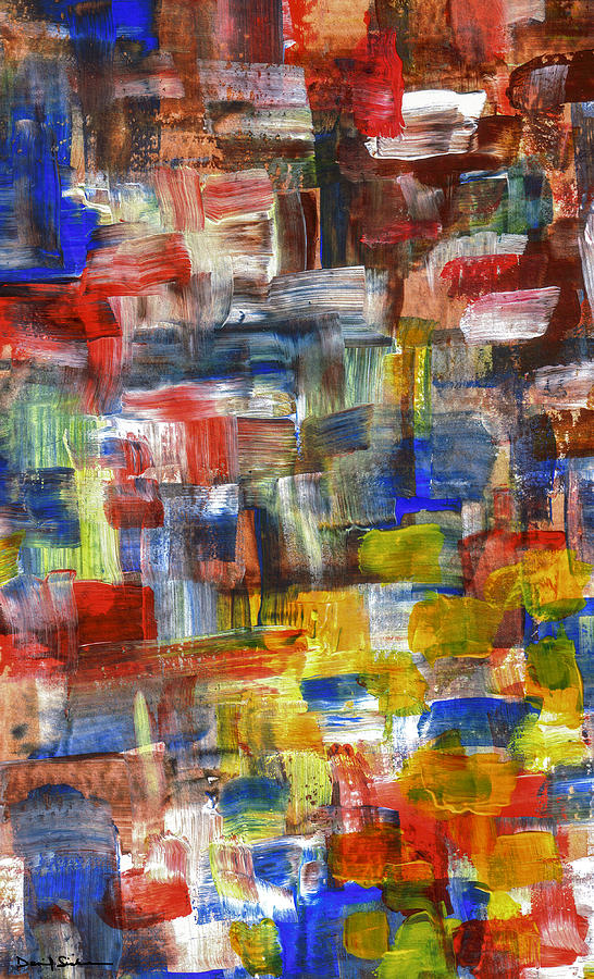 Abstract Painting - Texture of Color by Dan Sisken