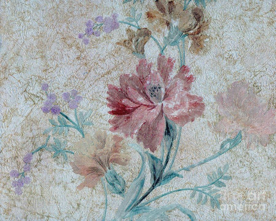 Flowers Mixed Media - Textured Florals No.1 by Writermore Arts