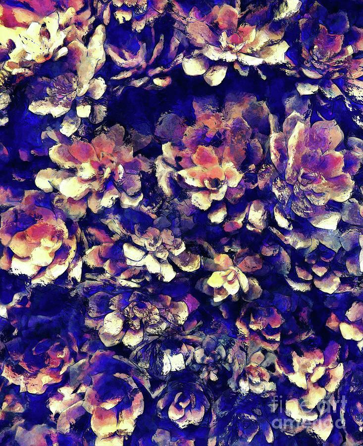 Plants Digital Art - Textured Garden Succulents by Phil Perkins